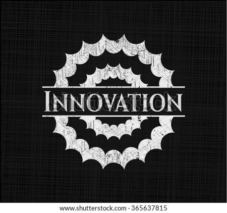 Innovation on chalkboard