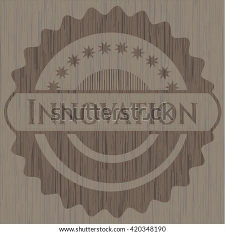 Innovation retro wooden emblem