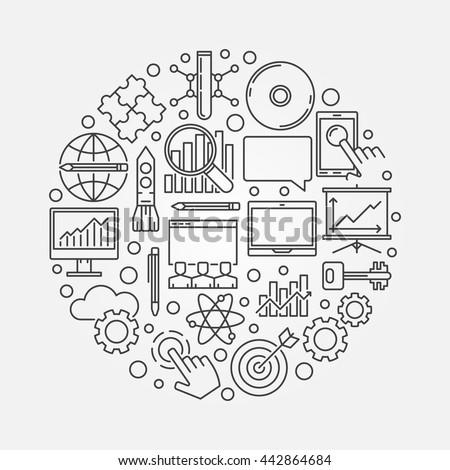 innovation round symbol vector