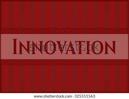 Innovation vintage style card or poster