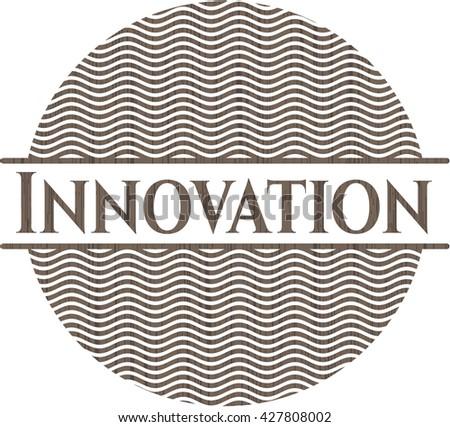 Innovation vintage wood emblem