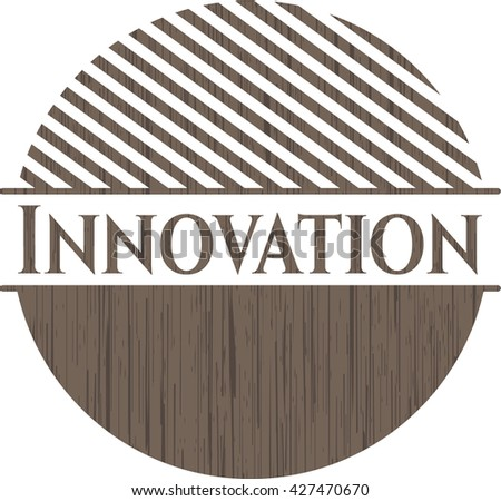 Innovation wood icon or emblem