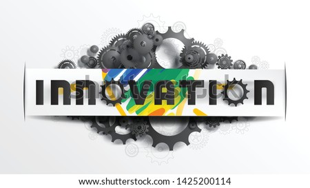 innovation word on paper cut