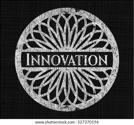 Innovation written on a chalkboard
