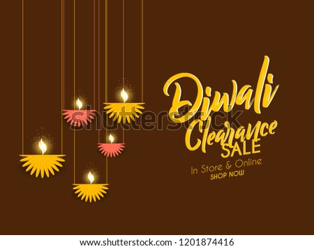 innovative abstract or poster for Diwali Clearance Sale with nice and creative design illustration, Diwali Clearance Sale.