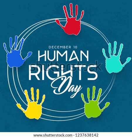 Innovative abstract or poster for Human Rights Day with nice and creative design illustration, Human Rights Day, 10th of December.