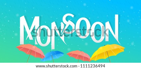 Innovative abstract or poster for Monsoon, Rainy Season, with nice and creative design illustration.
