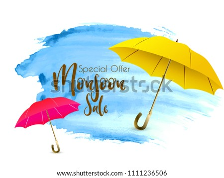 Innovative sale abstract or poster for Monsoon, Rainy Season or Special Offers or Monsoon Sale, with nice and creative design illustration.