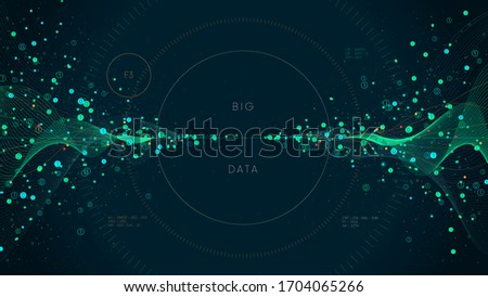 Innovative technologies for processing big data, analysis and structuring of information, conceptual vector illustration