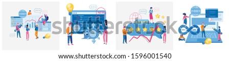 Innovative technologies, IT development, back-end , CRM, dev ops, best team work with your startup,  developers, testers, marketing team. Vector illustration for web banner, infographics, mobile.