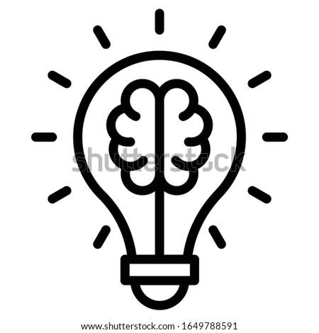 Innovator concept, hrm symbol on white backgournd, unique idea bulb vector icon design