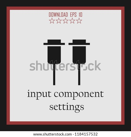 input component settings vector icon