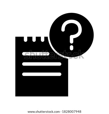 Inquiry, investigation, questionnaire, assistance, help business solid glyph icon Сток-фото ©
