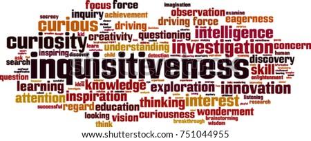 inquisitiveness word cloud