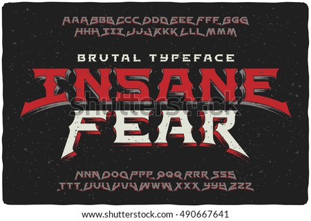 insane fear brutal font with