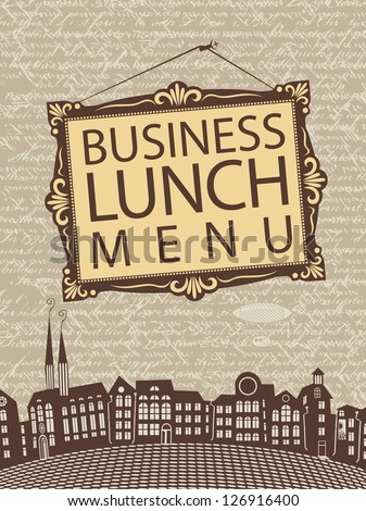 inscription business lunch in a ...