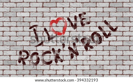 inscription i love rock'n'roll