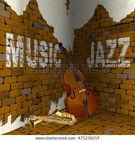 inscription jazz music on the