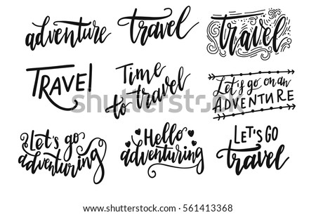inscription let's go to travel