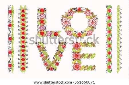 Cross Stitch Flower Border Set Download Free Vector Art Stock Delectable Cross Stitch Flower Patterns