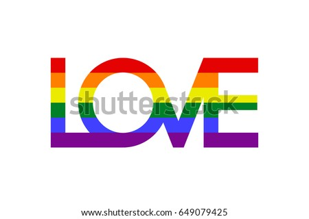 inscription love with colors of