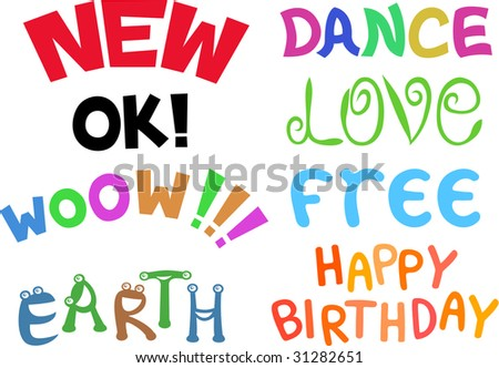 inscription new dance ok love wow free happy birthday earth