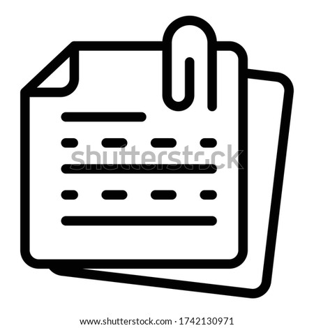 Inscription paper icon. Outline inscription paper vector icon for web design isolated on white background Сток-фото ©