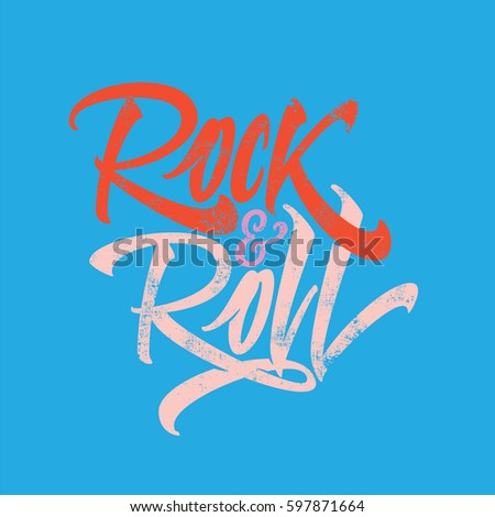 inscription rock and roll for