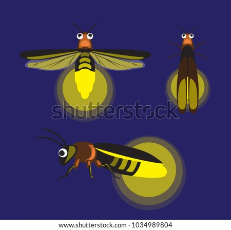 insect firefly cute cartoon