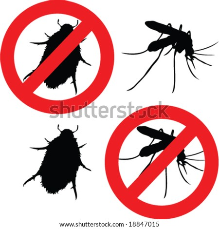 insect poison signs - vector