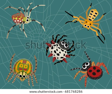 insect spider nature cartoon