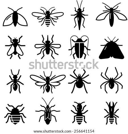 insects and bugs symbols