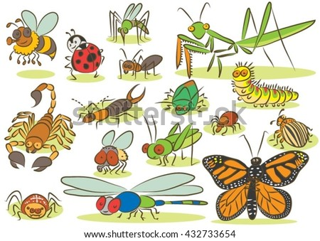 insects animals kids drawings