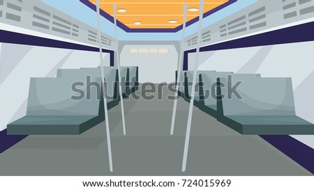 inside bus vector / inside train cartoon