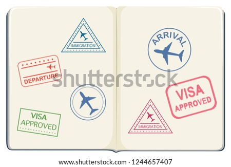 Inside of a passport illustration