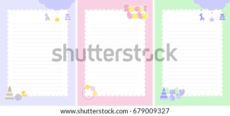 inside pages for baby notebook