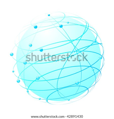 inside the web - world concept. Vector illustration