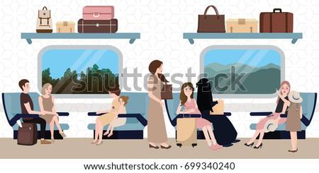 inside train business class