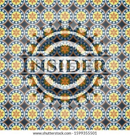 Insider arabic emblem. Arabesque decoration.
