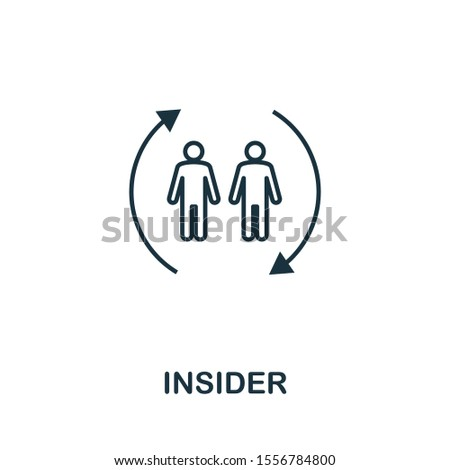 Insider icon outline style. Thin line creative Insider icon for logo, graphic design and more.