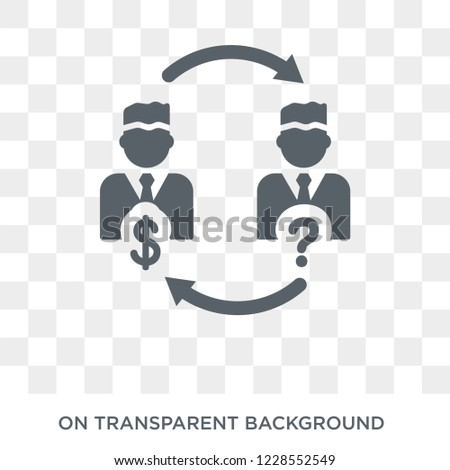 Insider trading icon. Trendy flat vector Insider trading icon on transparent background from Business  collection.