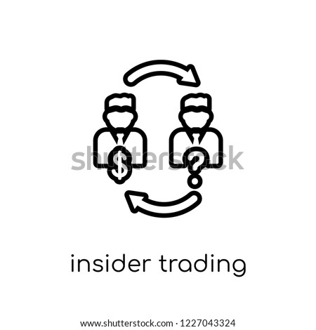 Insider trading icon. Trendy modern flat linear vector Insider trading icon on white background from thin line Business collection, editable outline stroke vector illustration