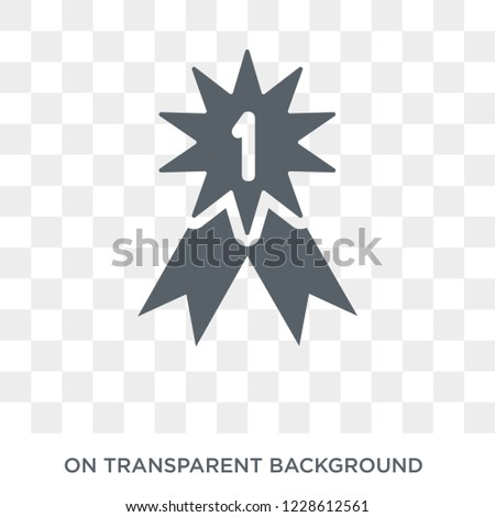 Insignia icon. Insignia design concept from Army collection. Simple element vector illustration on transparent background.