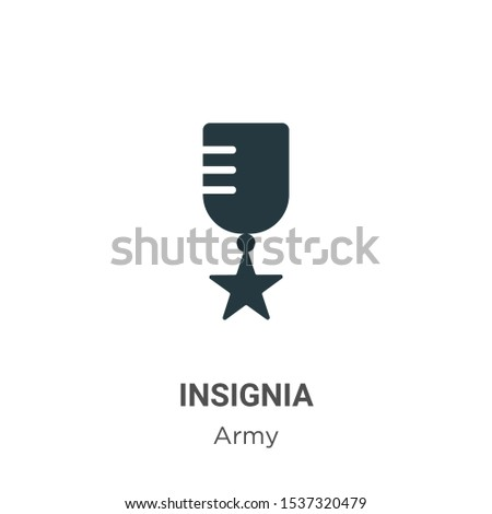 Insignia vector icon on white background. Flat vector insignia icon symbol sign from modern army collection for mobile concept and web apps design.