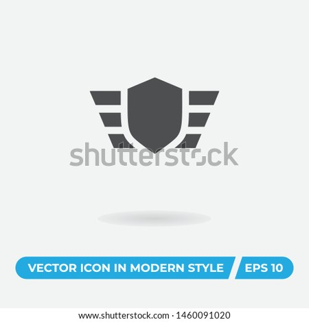 Insignia vector icon, simple insignia sign.