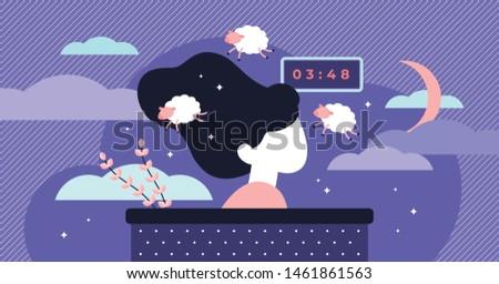 insomnia vector illustration