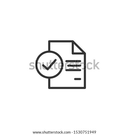 Inspection line icon in simple design on a white background Stock photo ©