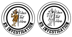 Inspector dog vector badge design. Layered for easy editing