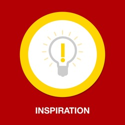 inspiration symbol icon. Simple element illustration. inspiration concept symbol design. Can be used for web and mobile UI/UX