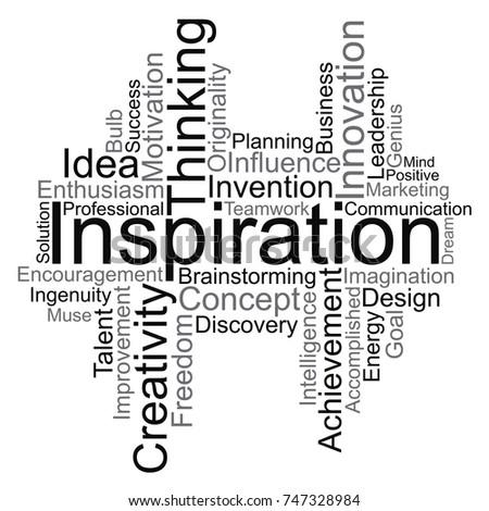 inspiration word cloud  vector